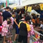 手稲あけぼの夏祭り 屋台 ヨーヨー大盛況