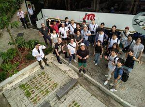 インターパーク 集合写真 in シンガポール