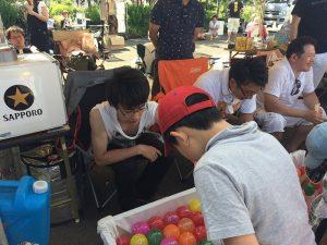 手稲 あけぼの夏祭り 縁日 ヨーヨー釣り